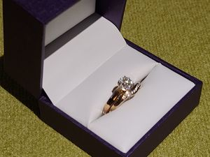 Engagement ring set 10k gold 9 diamonds for Sale in Reno, NV