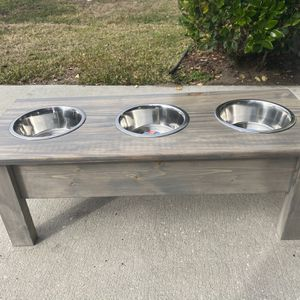 Grey Dog Bowl Stand for Sale in Bartow, FL