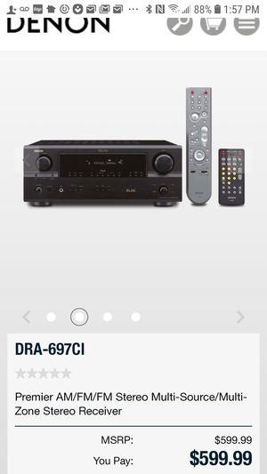 Premier AM/FM/FM Stereo Multi-Source/Multi-Zon-697CIreceiver for Sale in West Menlo Park, CA