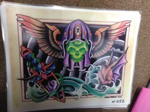 Artwork from tattoo shop display wall for Sale in MD, US