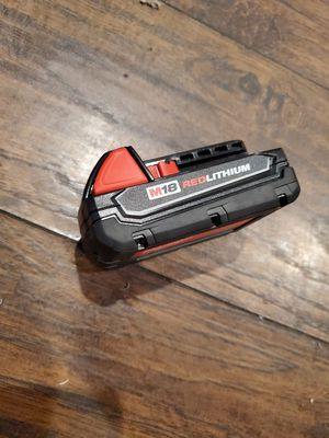 Milwaukee M18 RedLithium Battery Brand New Bring $25 for Sale in Los Angeles, CA