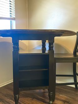 High kitchen table with wine storage and chair for Sale in Upland,  CA