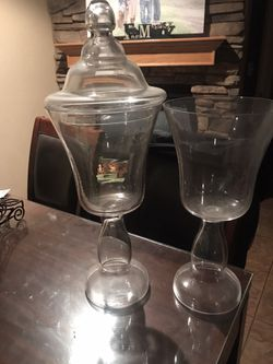 2 Apothecary jars for price of 1 for Sale in Bakersfield,  CA