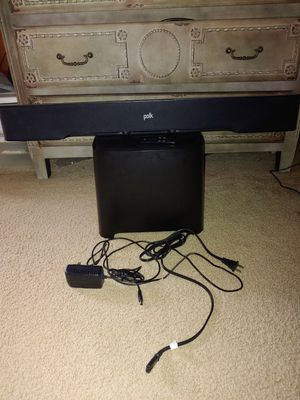 Polk Audio Bluetooth soundbar with wireless powered subwoofer for Sale in Shelby Charter Township, MI