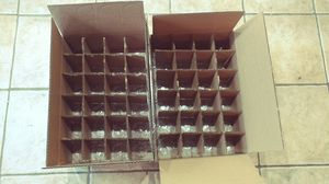 FREE Boxes w/ dividers for glasses~cups~etc for Sale in Schaumburg, IL