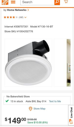 HOME NETWORK BATH FAN WITH BLUETOOTH SPEAKER AND LED LIGHT for Sale in Bakersfield, CA