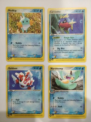 Mudkip Goldeen Carvanha Marshtomp Mint Pokemon EX-R&S for Sale in Forest Heights, MD