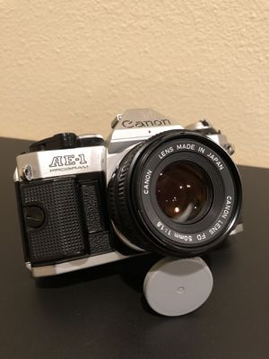Canon AE-1 Program 35mm SLR Vintage Analog Film Camera for Sale in Downey, CA