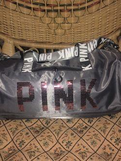 Girls Fashion Women's Fashion Duffel Bag Metallic Grey Exercise Gym Laptop Handbag for Sale in McLean,  VA