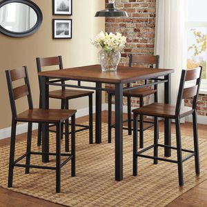 Better Homes & Gardens Mercer 5-Piece Counter Height Dining Set, Vintage Oak 4c for Sale in Norcross, GA
