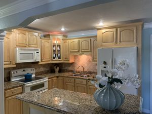 Whole solid wood kitchen cabinets and granite counter top for Sale in Tampa, FL