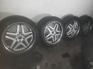 """Rims 20"""" 5 LUGS 5x120 BMW X5 Breyton Type 7 Alufelgen VERY GOOD CONDITION THE 4 TIRES IS 85% for Sale in East Los Angeles, CA"""