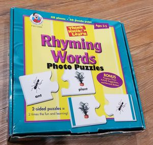 Rhyming Words Learning Puzzle Game for Sale in Gainesville, VA