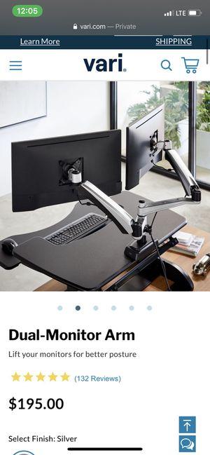 Veridesk Dual-Monitor Arm desk setup for Sale in San Jose, CA