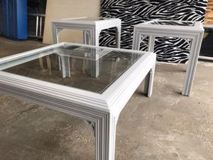 Chalk Painted Coffee Table and End Tables for Sale in Hoffman Estates, IL