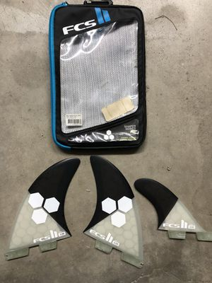 FCS 2 AM Fins 2+1 Twin Fin plus trailer Surfboard fins for Sale in Redondo Beach, CA