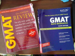 REDUCED!!!GMAT Review Guide 12th ed, and GMAT Math Workbook 6th ed. for Sale in Durham, NC