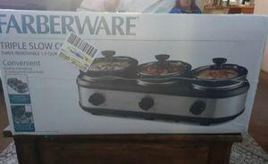 Triple slow cooker for Sale in Fontana, CA