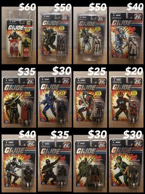 Gi Joe 25th Ann Foil figures for Sale in Phoenix, AZ