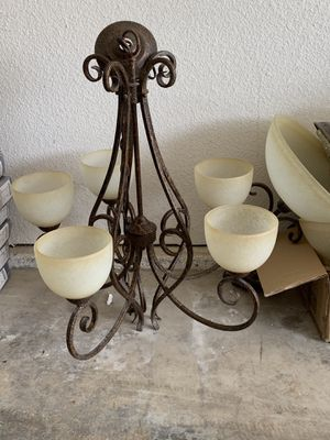 Chandelier light fixture - used but in good condition for Sale in Modesto, CA