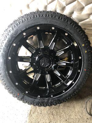 20 inch Off road Wheels 6 lug universal espanol/English for Sale in Chicago, IL
