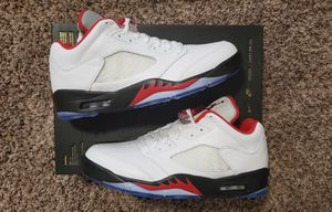 Jordan 5 V Low Golf Cleats SIZE 10 Fire Red NEW Silver Tongue for Sale in Ontarioville, IL