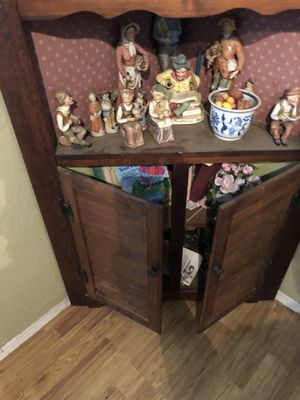 Pecan Corner Shelves (with Antique China and other collectibles included) for Sale in Durham, NC