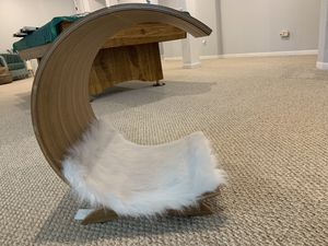 Modern, brand new wood cat bed, tag included for Sale in Eau Claire, WI