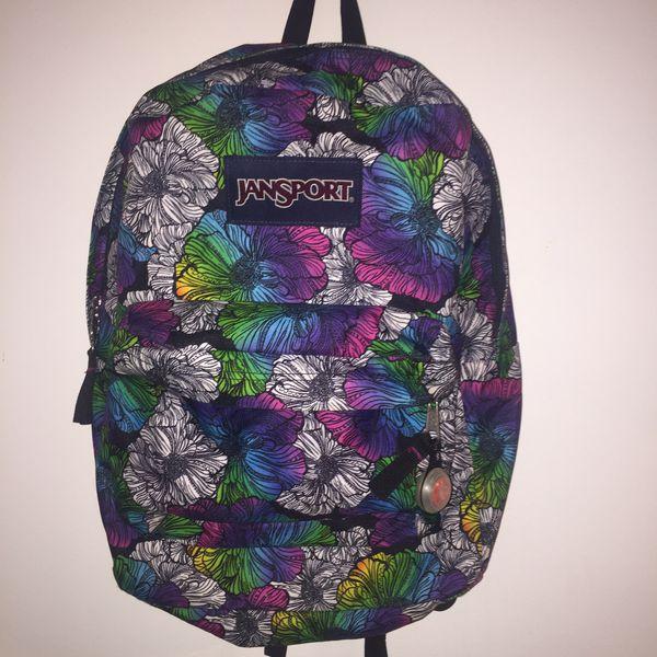 Jansport Flower Printed Backpack