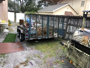 Solid steel trailer trailer is empty now no garbage ready to go for Sale in Brandon, FL