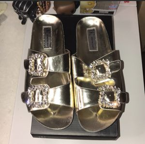 INC Gold slip-on Double Buckle Sandals for Sale in Fresno, CA