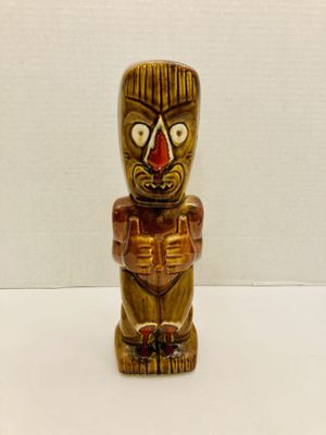 Vintage RARE Signed Dryden Ozark Frontier Pottery Disturbing & Scary Tiki Man Statue for Sale in Spring Hill, FL