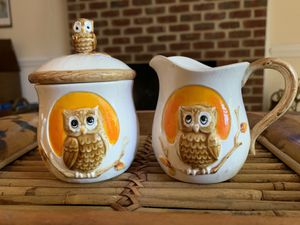 Vintage 1983 Sears Roebuck ceramic cream and sugar set for Sale in Cary, NC