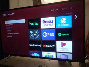 47inch tcl roku tv with remote for Sale in San Jose, CA