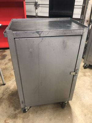 Multipurpose metal storage cabinet on wheels for Sale in Fort Worth, TX
