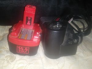 Bosch 14.4 volt battery and charger. for Sale in Wichita, KS