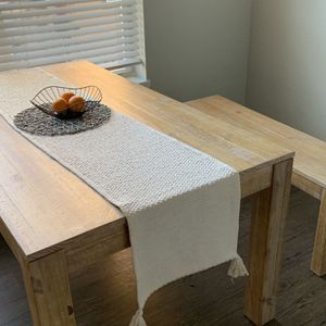 Brazilian Wood Dining Table and Bench for Sale in Portland, OR