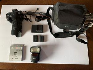 Sony Alpha SLT-A57 16.1MP Digital SLR Camera DT SAM & 18-135mm for Sale in Live Oak, TX