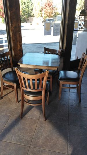 Wooden table and chairs for Sale in Bend, OR