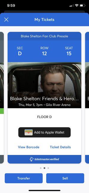 Blake Shelton floor seats for Sale in Peoria, AZ