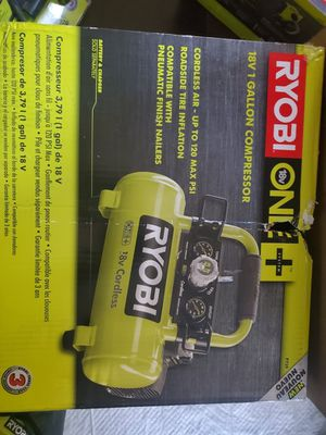 Ryobi 18 volt air compressor brand new in the box comes with battery and charger for Sale in Columbus, OH