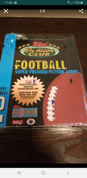 Football Topps Stadium Club Football box 24 packs for Sale in Seattle, WA
