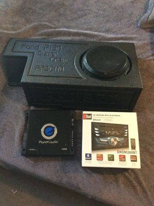 Ford F-150 super crew pro box with jl audio 10in sub and 1200w amp and new in box radio for Sale in Mesquite, TX