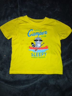 Carter's 2T little campers club sleepy forest ranger t-shirt for Sale in Ridgecrest, CA