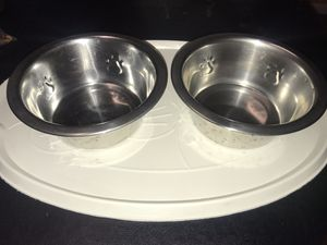 Pet supply bowls & mat for Sale in Baltimore, MD