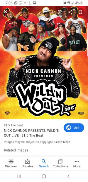 2 tickets to Wild and out show ceaser arena detroit for Sale in Toledo, OH