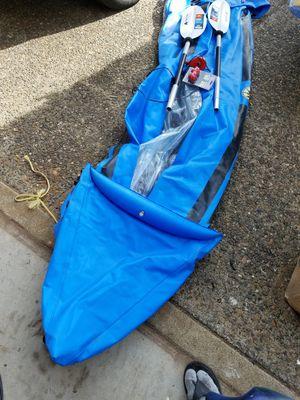 Quest canoe, infaltor, new kayak oars for Sale in Portland, OR