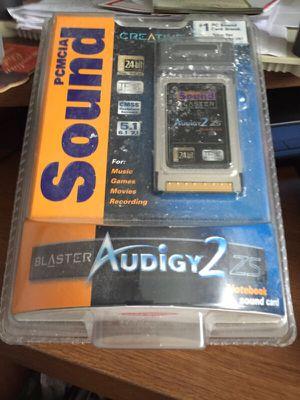 Creative Sound Blaster Audigy 2ZS notebook sound card for Sale in Warren, MI