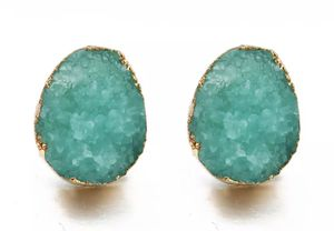Geode Crystal Stud Earing for gift for Sale in Lake Forest, CA