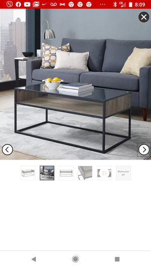 New metal glass coffee table. for Sale in Inman, SC